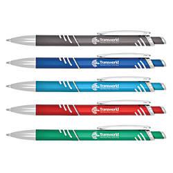Knurled Metal Grip Pen Medium Point