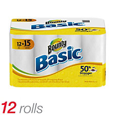 Bounty Basic Paper Towels White 60