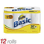 Bounty Basic Paper Towels White 60
