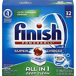 Finish Powerball Dishwasher Tabs Tablet Fresh