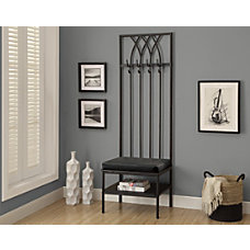 Monarch Specialties Metal Bench Coat Rack