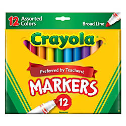 Crayola Broad Line Markers Assorted Classic