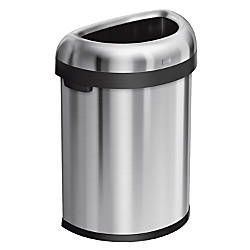 simplehuman Semi Round Open Trash Can
