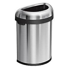 simplehuman Semi Round Open Trash Can