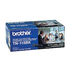 Brother TN 115BK Black Toner Cartridge