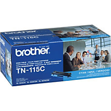 Brother TN 115C Cyan Toner Cartridge
