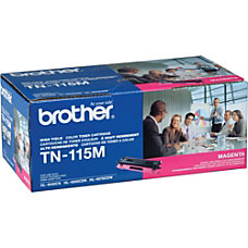 Brother TN 115M Magenta Toner Cartridge