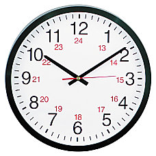 Universal 24 Hour Round Wall Clock