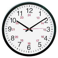 Universal 24 Hour Round Wall Clock