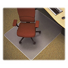 Lorell Rectangular Chair Mat Carpeted Floor