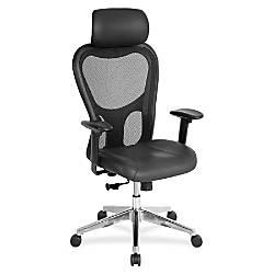 Lorell Executive LeatherMesh High Back Chair
