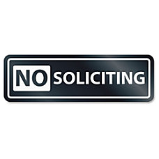 US Stamp Sign No Soliciting Window