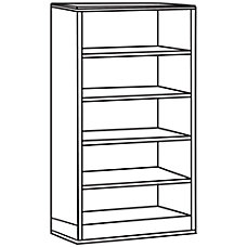 Lorell 90000 Series 5 Shelf Bookcase