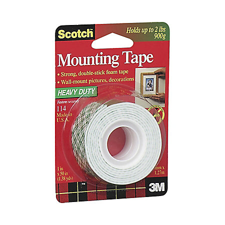 scotch foam mounting tape 1 x 50 white by office depot. Black Bedroom Furniture Sets. Home Design Ideas