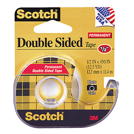 scotch 137 photo safe double sided tape 12 x 450 by office depot officemax. Black Bedroom Furniture Sets. Home Design Ideas