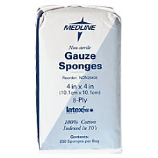 Medline Gauze Sponges Nonsterile 4 x