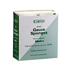 Medline CARING Woven Gauze Sponges 12