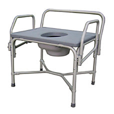 Medline Steel Bariatric Drop Arm Commode
