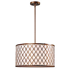 Kenroy Tripoli 3 Light Hanging Pendant