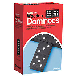 Pressman Toys Double Nine Wooden Dominoes