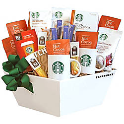 Givens Gift Basket Starbucks Coffee Cocoa