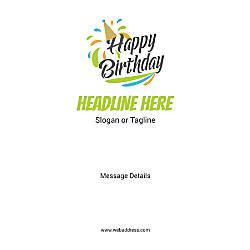 Custom Vertical Poster Birthday Cap