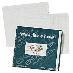 Ekonomik Check Deposit Register 40 Sheets