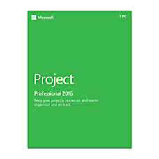 Microsoft Project 2016 Standard Box Pack