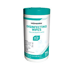 Highmark Disinfectant Wipes Container Of 75