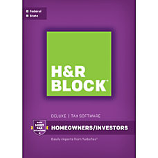 H R Block 16 Deluxe State