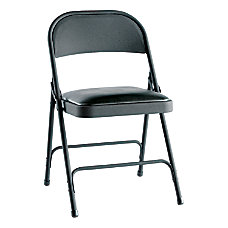 Alera Steel Folding Chairs Padded Seat