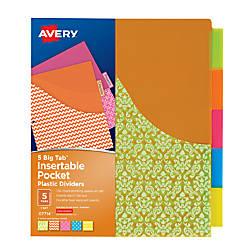 Avery Big Tab Pocket Insertable Plastic