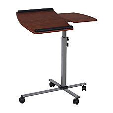 Techni Mobili Mobile GlassMetalMDF Laptop Cart