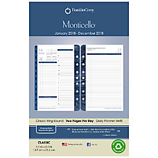 FranklinCovey Monticello Planner Refill 5 12