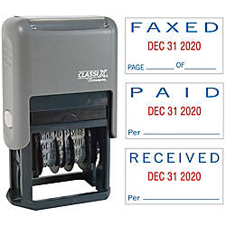 Xstamper Self Inking PaidFaxedReceived Dater MessageDate