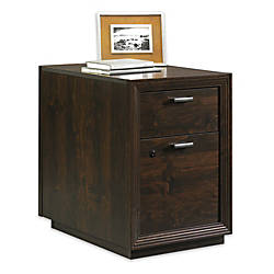 "Sauder® Forte Collection Pedestal File, 24 7/8""H x 17 7/8""W x 25 3/8""D, Dark Alder"