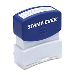US Stamp Sign Pre inked Blue