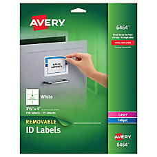 Avery Removable White InkjetLaser Multipurpose Labels
