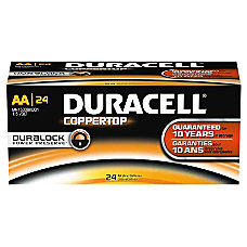 Duracell Coppertop AA Alkaline Batteries Box