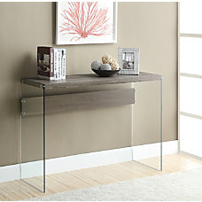 Monarch Specialties Tempered Glass Console Table