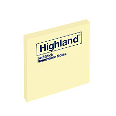 Highland Self Stick Notes 3 x