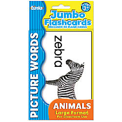 Eureka Jumbo Flash Cards Picture Words