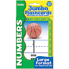 Eureka Jumbo Flash Cards Numbers Pack