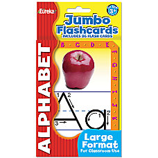 Eureka Jumbo Flash Cards Alphabet Pack