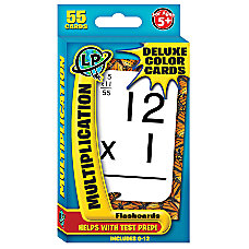 Learning Playground Deluxe Flashcards Multiplication Pack