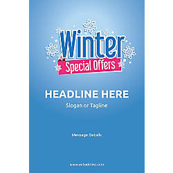 Custom Vertical Poster Winter Special Offers