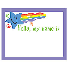 Eureka Self Adhesive Name Tags Hello