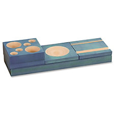 Safco Blue Splash Wood Desk Set