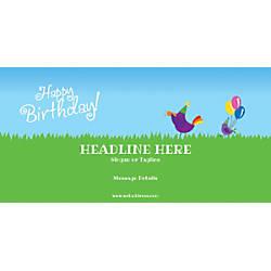 Custom Horizontal Banner Birthday Birds
