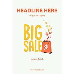 Custom Vertical Poster Big Sale Bag
